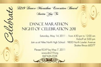 Dm formal invitation