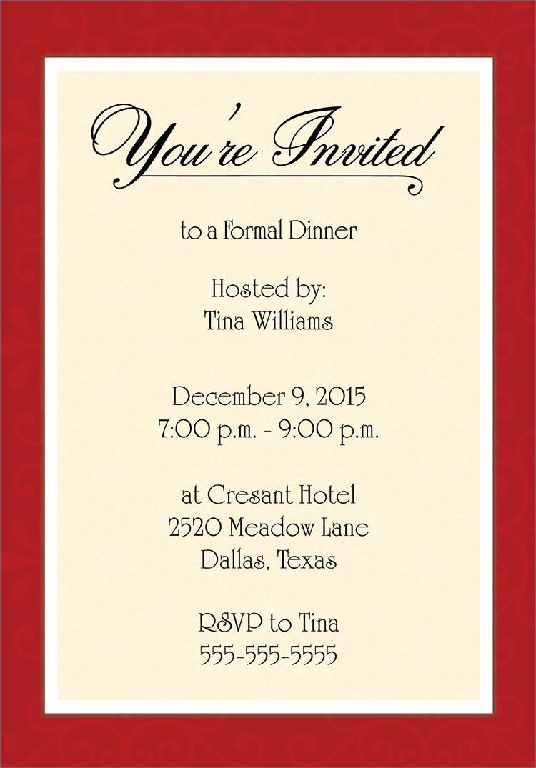 examples of formal invitation cards